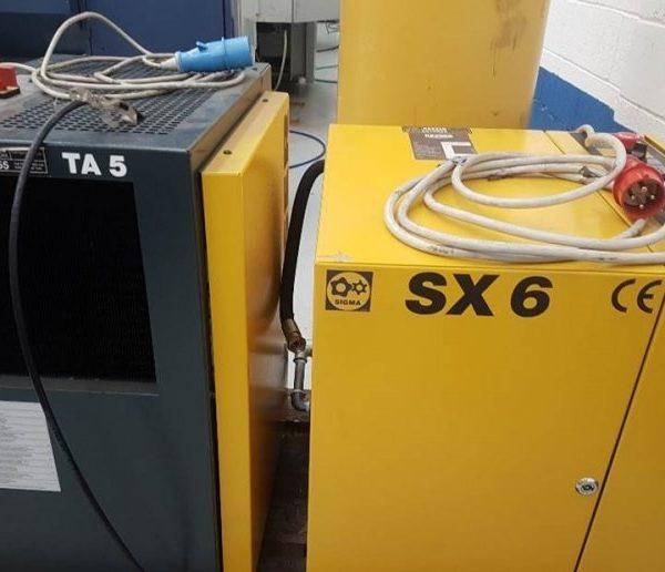 Compressore Usato Kaeser Sx6 Ed Essicatore Ta5