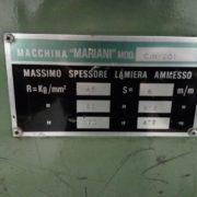 Cesoia Usata Mariani 2000 x 6 mm