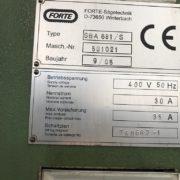 Seghetto Usato A Nastro Forte Modello SBA 681